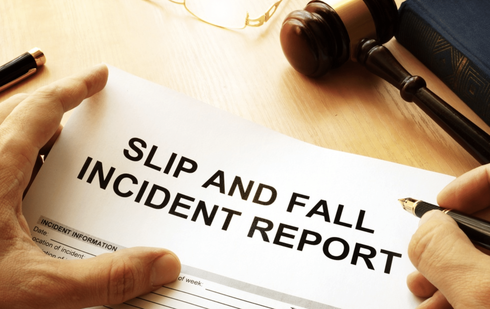 slip and fall incident report