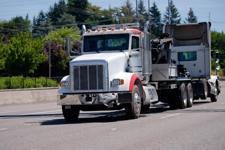 semi-truck on the road